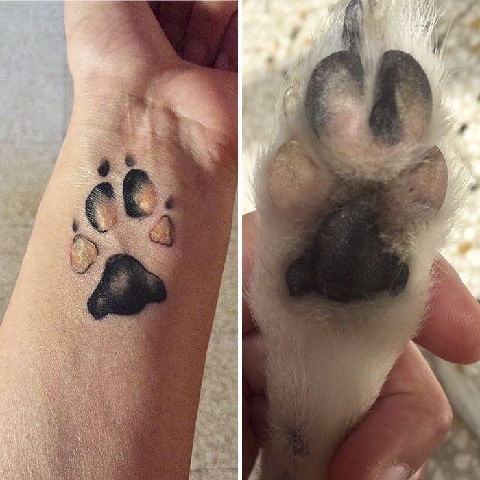 Татуировка лапы своей собаки - новый бьюти-тренд (ФОТО)
