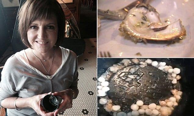 Женщина заказала устриц в ресторане и нашла целое сокровище