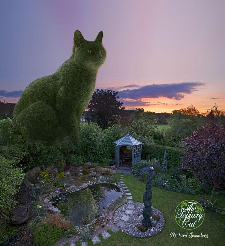 """Самый чудесный парк, в котором кусты """"выстрижены"""" в форме котиков"""