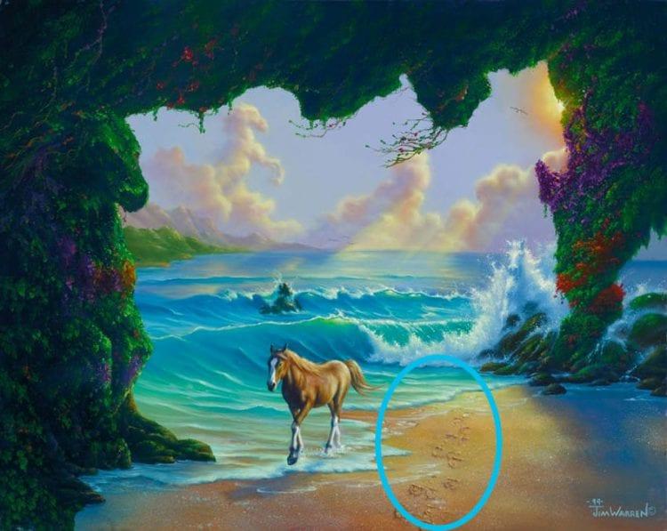 """ТЕСТ: Сколько животных вы сможете найти на картине-иллюзии """"Семь лошадей"""""""