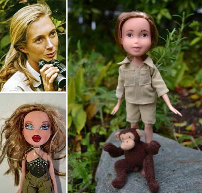 Художница превращает вызывающе накрашенных кукол в выдающихся женщин