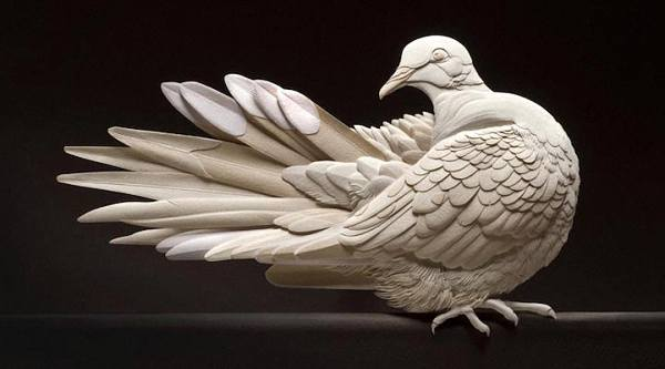 Невероятные бумажные скульптуры животных от Кэлвина Николлса