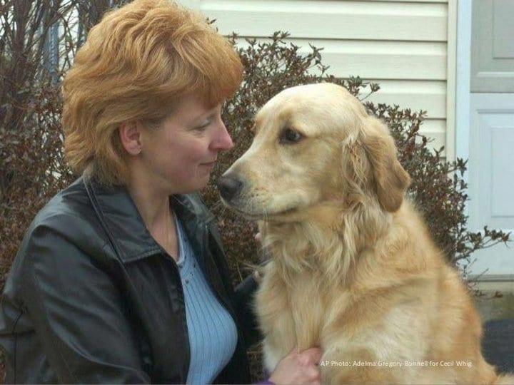 Пес спас жизнь хозяйке, сумев достать застрявший в дыхательных путях фрукт